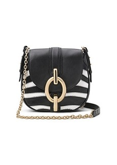 Sutra Mini Zebra Patchwork Leather Crossbody Bag