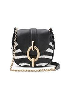 Sutra Mini Zebra Patchwork Leather Crossbody Bag