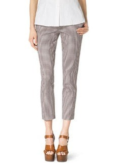 Michael Kors Check Stretch-Cotton Skinny Pants