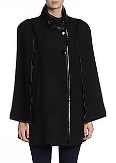 Via Spiga Boiled-Wool Capelet Coat
