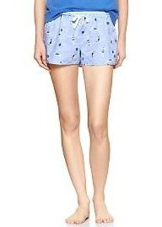 Swimmer printed poplin shorts