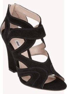 Miu Miu Cutout Wedge Sandals