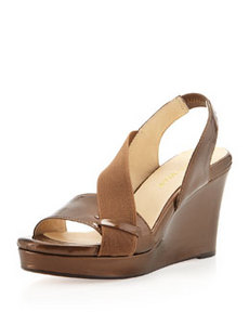 Taryn Rose Shae Wedge Platform Sandal, Coffee