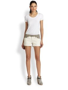 Genetic Bailey Two-Tone Denim Shorts
