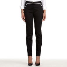 The Grace Stretch Pants with Contrast Trim