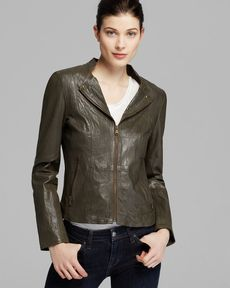 Marc New York Jacket - Ellie Tumbled Leather Moto