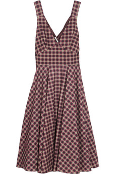 Miu Miu Plaid wool-blend dress
