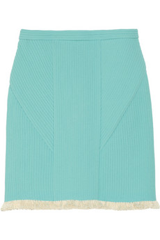 3.1 Phillip Lim Fringed corded chiffon skirt