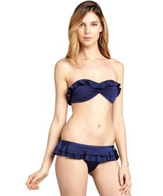 French Connection nocturnal blue tiered ruffle 'Frilly Fancy' bikini briefs