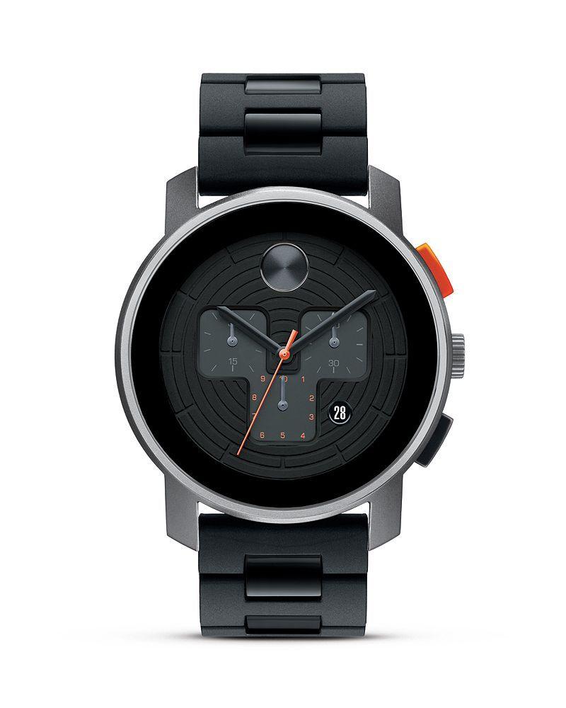 Movado BOLD Grey Sandblasted Aluminum Case Watch, 43.5mm ...