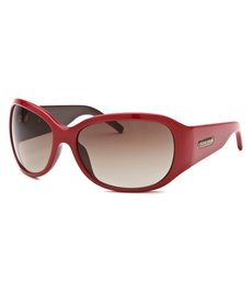 Michael Kors Women's Rectangle Red & Brown Sunglasses