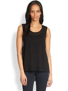 Eileen Fisher Sheer Linen Hi-Lo Tunic