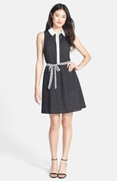 kensie Laser Cut Eyelet Shirtdress