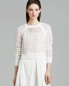 Rebecca Taylor Sweater - Open Lattice Crop