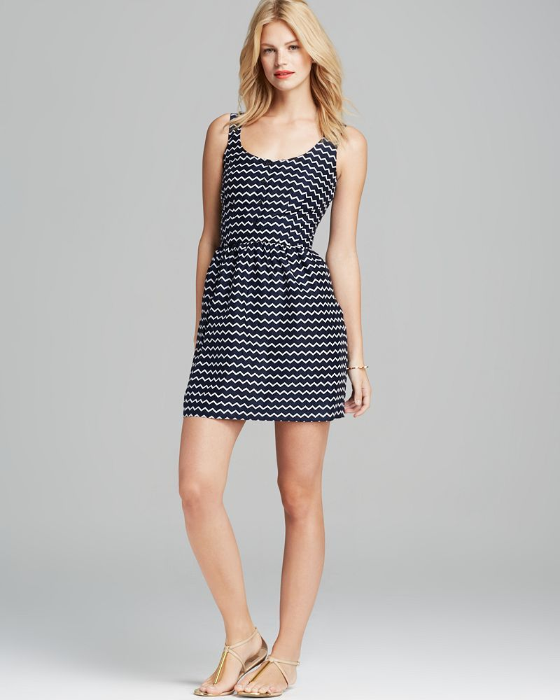 FRENCH CONNECTION Dress - Small Zigzag