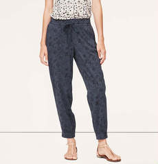 Petite Floral Drawstring Pants in Marisa Fit