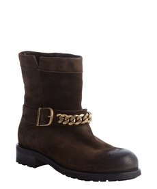 Jimmy Choo brown suede 'Daze' chain lug sole boots