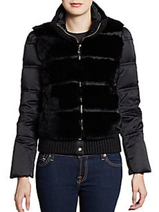 Andrew Marc Dana Dyed Fur-Front Down Jacket
