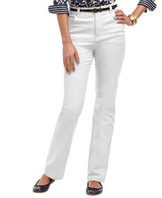Charter Club Jeans, Tummy-Slimming Classic-Fit Straight-Leg, White Wash