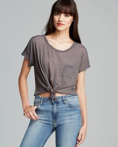 C&C California Tee - Marled Crop