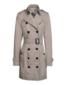 BURBERRY LONDON Plain weave Solid color Classic Neckline Strapped cuffs Two pockets Button closing Belt loops Rear slit Lined Flashes Removable belt Long sleeves Front closure Plain weave Woven not made of fur Long sleeves