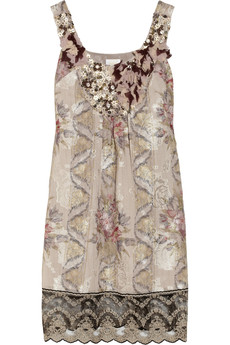 Anna Sui Embellished jacquard dress