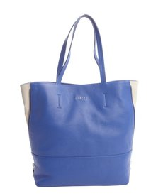 Furla ocean blue and marble leather 'Amazzone' medium tote