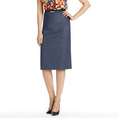 Belted Column Skirt