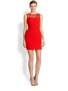 Laundry by Shelli Segal Stretch Crepe Cutout Dress