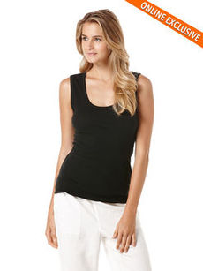 sleeveless shell tee