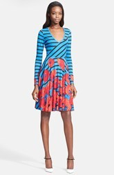 Tracy Reese Print Jersey Fit & Flare Dress