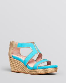 Taryn Rose Platform Wedge Espadrille Sandals - Karsen