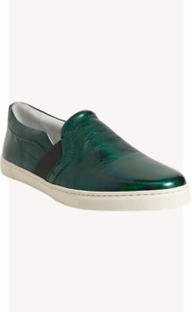 Lanvin Metallic Slip-On Sneakers