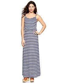 Stripe cami maxi dress