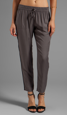 Joie Silk Crepe Nairi Pant in Gray