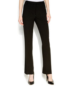 Calvin Klein Straight-Leg Pinstriped Pants