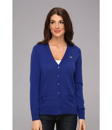 Lacoste L/S Cotton V-Neck Cardigan