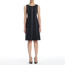 A-Line Dress with Lace Panels