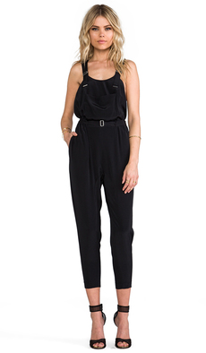 Robert Rodriguez Silk Jumpsuit in Black