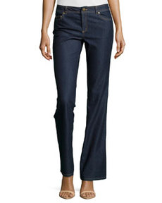 Lafayette 148 New York Wide-Leg Denim Jeans, Midnight