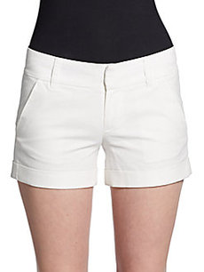 French Connection Cuffed Twill Shorts