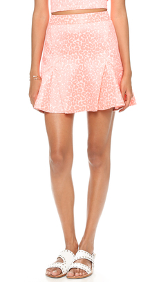 Juicy Couture Wild Cheetah Jacquard Skirt