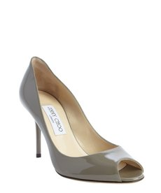 Jimmy Choo grey patent leather 'Evelyn' pumps