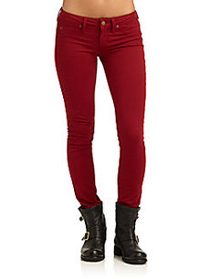 Saks Fifth Avenue GRAY Spring Street Skinny Leg Denim Jeans/Red