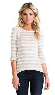 Soft Joie Dayla Stripe Top in Beige