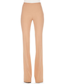 Side-Zip Crepe Pants   Side-Zip Crepe Pants