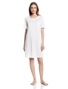 Hanro Women's Cotton Deluxe Short-Sleeve Nightshirt