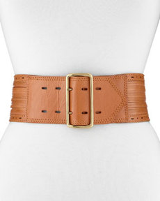 Linea Pelle Sliced Perforated Belt, Natural