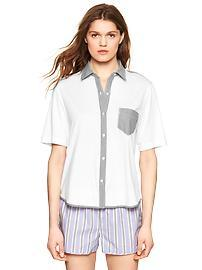 Jersey short-sleeve nightshirt