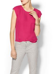 Joie Rancher Silk Short Sleeve Pocket Top